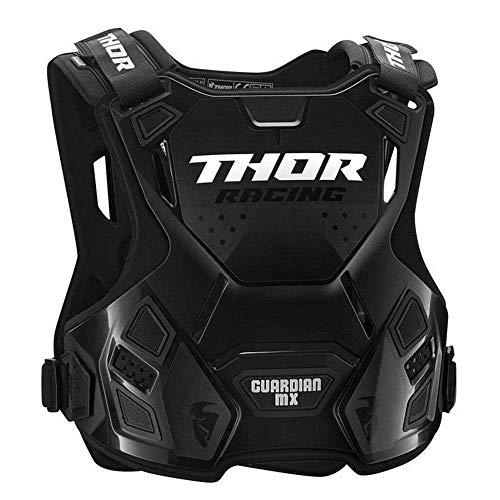 Thor Guardian MX Kinder Motocross Brustpanzer Protektor Cross Enduro Offroad Quad Atv Rot Schwarz Grün Weiß (2XS/XS, Schwarz)