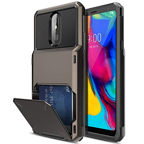 Elegant Choise LG Stylo 5 Case, LG Stylo 5X / LG Stylo 5+ Phone Case, Wallet (Up to 4 Cards) with Card Slot Holder Hybrid Dual Layer Rugged Shockproof Protective Bumper Cover for Stylo 5 Plus(Black)