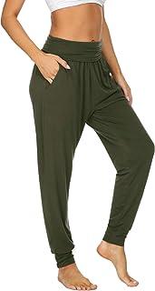UEU Women`s Cozy Yoga Joggers Pants Loose Workout Sweatpants Comfy Lounge Pants with Pockets