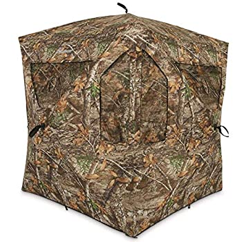 Ameristep Brickhouse Hunting Blind | 3-Person Ground Blind in Mossy Oak Break-Up Country One Size