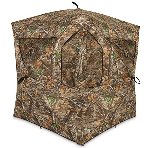 Ameristep Brickhouse Hunting Blind | 3-Person Ground Blind in Mossy Oak Break-Up Country, One Size