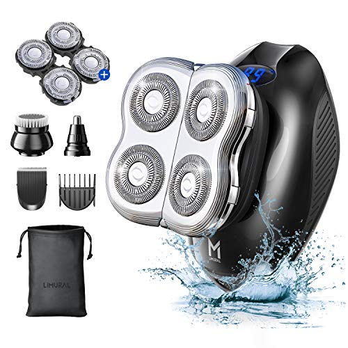 Limural Bald Head Shaver for Men, Electric Shaver for Men with 2 Extra...