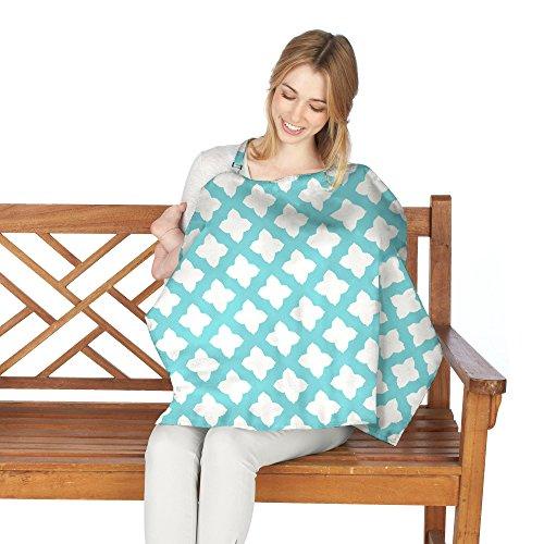 Nuby Nursing Cover, Nursing Cover for Breastfeeding, Breathable Nursing Poncho, Lightweight Nursing Shawl, Full Coverage 25