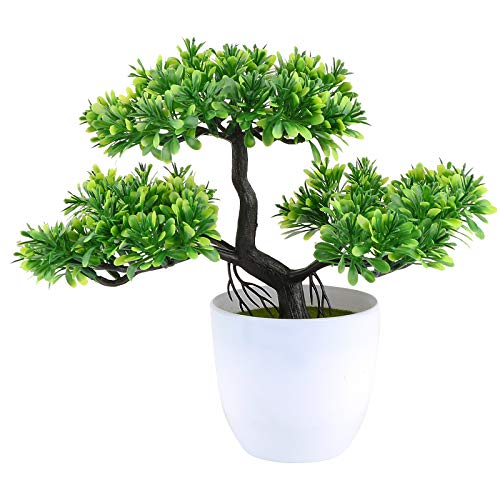 VINFUTUR Kunstpflanzen Künstliche Bonsai Bäumchen Künstliche Pflanzen Kunstbaum Kunstbonsai Home Büro Fensterbank Tisch Deko