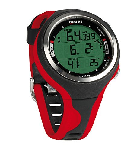 Mares Smart Wrist Dive Computer, Black/Red by Mares