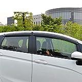 ZLLD Deflectores de Viento para Volkswagen For Golf 7 Mk7 2014-2017 Ventana De Plástico Vellera De Ventas De Ventas Sun Sun Raina Deflector Guard Aire Visera Lateral (Color : Negro)