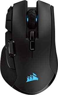 Corsair Ironclaw Wireless RGB, Rechargeable Wireless Optical Gaming Mouse with Slipstream Technology (18,000 DPI Optical S...