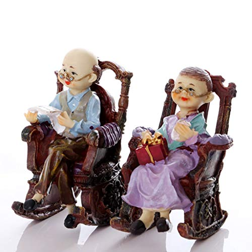 QTDS Europeo Vecchio Uomo Signora Soggiorno armadietto del Vino Carino casa Mini Ornamenti Artigianato Decorazione