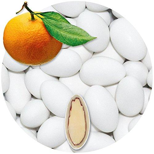 EinsSein 0,5kg Schokomandeln Orange weiss matt Hochzeitsmandeln Mandeln Hochzeit Taufmandeln Gastgeschenke Zuckermandeln Bonboniere Confetti Badem sekeri Gastgeschenk Zucker Candy Bar Süssigkeiten