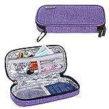 Luxja Bolsa Insulina, Bolsa Termica para Diabético, Bolsa para Pluma de Insulina y Otros Suministros para Diabéticos (Solo Bolsa), Púrpura