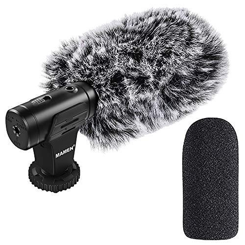 Indovis MIC-07 Shotgun Micrófono de cámara – Micrófono de condensador con cardiocardio  Pastilla de sonido integrada de alto rendimiento   Ligero y manejable   Plug and Play