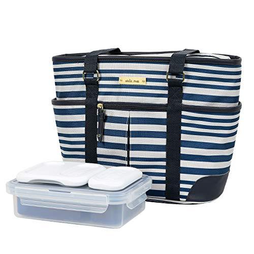 Arctic Zone Damen Lunch-Tasche, isoliert, Pavillon-Streifen