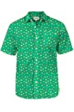 Men's Lucky Charmer St. Patrick's Day Button Down Shirt - Green St. Paddy's Hawaiian Shirt