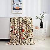 Elegant Comfort Velvet Touch Ultra Plush Christmas Holiday Printed Fleece Throw/Blanket-50 x 60inch, (Monkey)