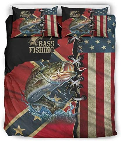 Comforter Bed Set Bass Fishing Home Style Coverlet Bedspread Quilt Set for Kids Adults Twin product image