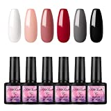 Saint-Acior UV Nagellack Sets 6pc Gellacken UV Gel Farbgel 8ml Nagelgel Led Gel-Lack Set