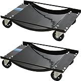 2x TrutzHolm® Auto Rangierhilfe für PKW 900 kg mit Stahlrollen - Rangierroller Rangierwagenheber Wagenheber