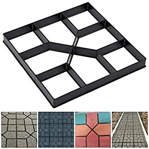 Skelang Square Pavement Mold, Reusable Path Maker Mold, Concrete Cement Mould 15.7