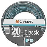 Tubo GARDENA Classic da 19 mm (3/4'), 20 m: Tubo da giardino universale, pressione di scoppio 22 bar, senza componenti di sistema (18022-20), Grigio scuro / Blu