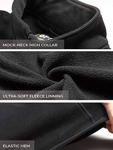 ORORO Men's Fleece Heated Vest with Battery Pack