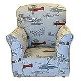 Brighton Home Furniture Toddler Rocker in Airplaine Printed Cotton