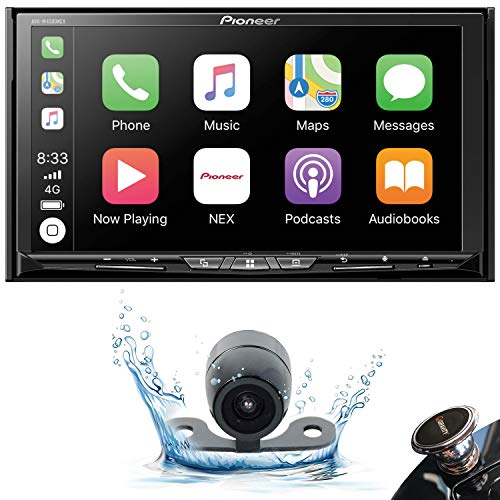 """PIONEER AVH-W4500NEX Double DIN Wireless Mirroring Android Auto, Carplay in-Dash DVD/CD Car Stereo Receiver, 7"""" Touchscreen + Backup Camera + Mobile Phone Holder (AVH-W4500NEX+20C+MAGNET)"""