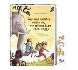 Buchspielbox Nous sommes à nouveau là, nous devons aller brièvement vers l'Afrique + autocollants d'animaux, livre de cours pour les enfants à partir de 6 ans.