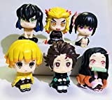 Demon Slayer Action Figures, Tanjiro Nezuko Kyoujurou Anime Figures Toys, Fan Collections for Kids, Children, Christmas (6PCS)