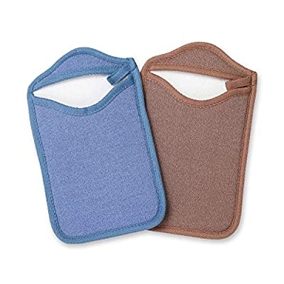 Amazon - 40% Off on  Exfoliating Gloves 2 Pack Korean Reusable Exfoliating Scrubbing Mitt Dead Skin Remover for Beauty Spa