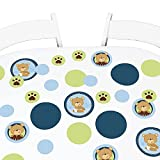 Big Dot of Happiness Baby Boy Teddy Bear - Baby Shower Giant Circle Confetti - Party Decorations - Large Confetti 27 Count