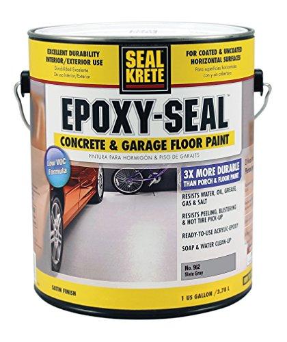 Seal-Krete Epoxy-Seal Low VOC Concrete & Garage Floor Paint, Slate Gray