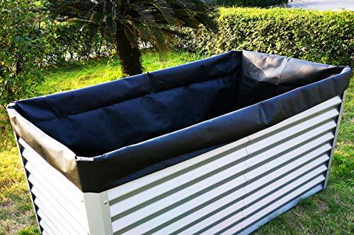 OUTFLEXX Pflanzvlies in schwarz, Vlies 200g/m², 180x90x100cm, für Hochbeet mit 180cm, Gartenvlies Unkrautvlies, Universal
