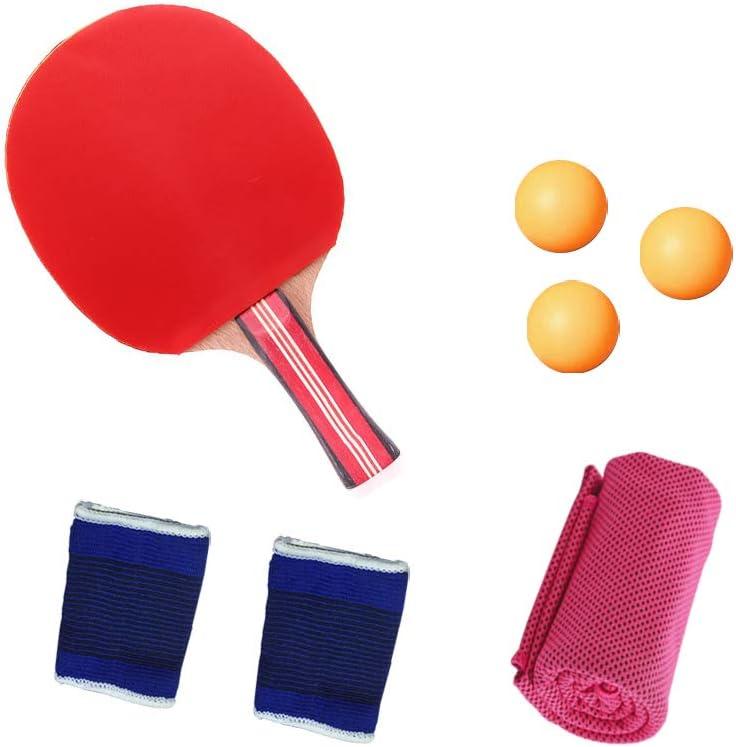 KINDOYO Raquetas de Tenis de Mesa - Portátil Bolsillo Funda Pelotas Palas Table Tennis Set
