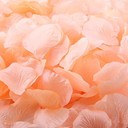 LEFV™ 1000pcs Silk Rose Petals Artificial Flower Wedding Party Vase Decor Bridal Shower Favor Centerpieces Confetti Decorations (40 Colors for Choice)- Peach