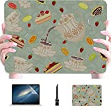 Macbook Pro Shell Elegant Retro Art Tea Set Tetera Cup Plástico Hard Shell Compatible Mac Air 13'Pro 13' / 16'Cubierta de computadora Cubierta Protectora para Macbook 2016-2020 V