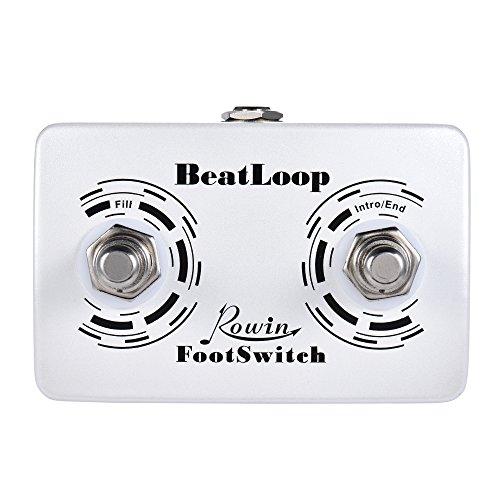Festnight Dual Fußschalter Pedal, Recording Effektpedal mit 6.35mm Kabel Effektgeräte Signalprozessoren