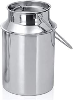 King International 100% Stainless Steel Milk Storage Can Milk Canister Doli | Dolu | Dolchi Milk Bucket Gallon Milker - 1.5 liter with Lid- Ideal For Storing and Transporting Liquid