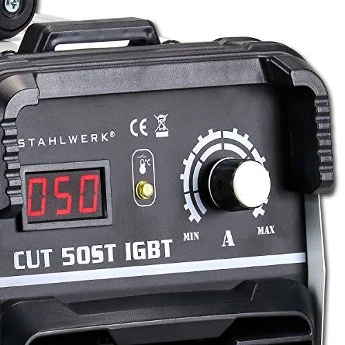 STAHLWERK CUT 50 ST IGBT Plasmaschneider mit 50 Ampere, bis 14mm Schneidleistung, für Lackierte Bleche & Flugrost geeignet, 7 Jahre Herstellergarantie - 5