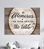 Sense of Art | Memories Are Made Around The Table | Framed Wall Art | Kitchen Wall Decor | Dining Room Decor | Kitchen Sign | Dining Room Art Wall Decor | Wall Art Dining Room (Brown, 30x40)
