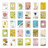 Mein 1. Kalender, 30 Baby Meilenstein Karten, Geschenkidee zur Geburt, Schwangerschaft, Taufe oder...