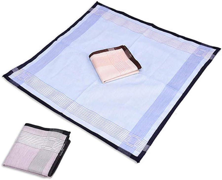 12 Pcs Multicolor Plaid Stripe Handkerchiefs Men Classic Pattern Vintage Chest Towel Pocket Hanky Cotton Hankies