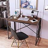 Foldable Computer Desk 47 Inch Modern Home Office Desk Simple Laptop Study Writing Desk Table