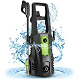 Power Washer, TEANDE Pressure Washer 3500PSI Electric High Pressure Washer 1800W Professional Car Washer Cleaner Machine with Hose Reel,4 Nozzles for Patio Garden Yard Vehicle(Green)