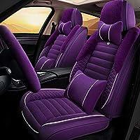 車のシートカバーには、5場所自己冬のぬいぐるみシートクッションインフレータブルの互換性、品質通気性バックとフロント保護快適なクッション,C