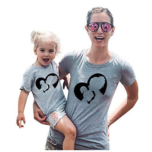 WOBANG Camiseta para mujer y adolescente, con estampado de sol y luna, para verano, divertida, deportiva,...