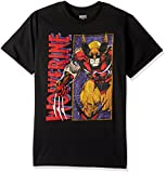 Marvel Men's Wolverine Classic Character T-Shirt, Black, Small