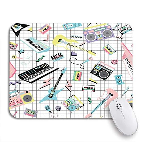 MIGAGA Gaming-Mauspad,Musik Retro 80S 90S Musikinstrumente und Kassettenrekorder,Rutschfest Verschleißfestes Und Haltbares Gummi,Mousepad Für Bürocomputer,9.5