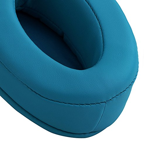 Geekria Performance Protein PU Earpads for Audio-Technica ATH-M50X, ATH-M10, ATH-M20X, ATH-M30X, ATH-M40X, ATH-ANC9, Over-Ear Headphones Ear Covers/Cushion/Earpad Repair Parts (Blue Thick Plus)