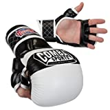 Combat Sports Max Strike MMA Training Gloves (White, Large)