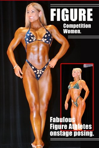 Figure Competition Women. Fabulous Figure Athletes onstage posing.